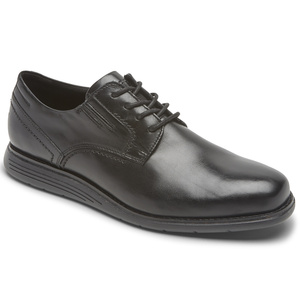 909 M TMSD 4-EYE PLAIN TOE BLACK